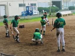 2021/06/06 午前(自働機)練習(ティーバッティング・内野ボール回し・スローイング))