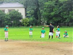 2021/06/27 午前・午後(自働機)練習(キャッチボール・内野守備)